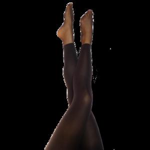 Svarta Leggings med fot